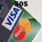 خرید ویزا کارت و مستر کارت مجازی 50 دلاری