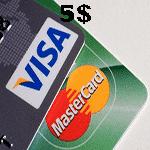 ویزا كارت مجازی 5 دلاری