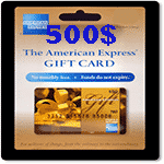 گیفت کارت 500 دلاری آمریکن اکسپرس