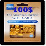 کارت 100 دلاری امريكن اكسپرس