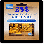 کارت 25 دلاری امريكن اكسپرس