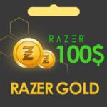گیفت کارت 100 دلاری Razer Gold ریزر گلد