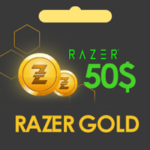 گیفت کارت 50 دلاری Razer Gold ریزر گلد