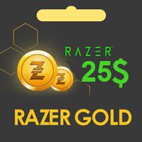 گیفت کارت 25 دلاری Razer Gold ریزر گلد