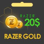گیفت کارت 20 دلاری Razer Gold
