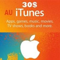 گیفت کارت 30 دلاری اپل استراليا
