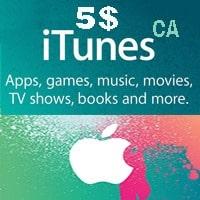 گیفت کارت 5 دلاری اپل كانادا
