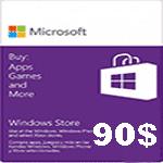 خرید گیفت کارت 90 دلاری مایکروسافت