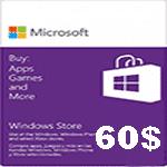 خرید گیفت کارت 60 دلاری مایکروسافت