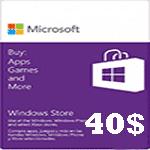 خرید گیفت کارت 40 دلاری مایکروسافت