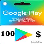 گيفت كارت 100 دلاری گوگل پلی