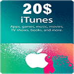 گيفت كارت 20 دلاری آيتونز اپل