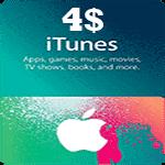 گیفت کارت 4 دلاری اپل آیتونز