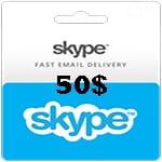 گیفت کارت 50 دلاری اسکایپ