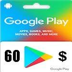 گيفت كارت 60 دلاری گوگل پلی