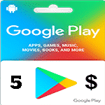 گيفت كارت 5 دلاری گوگل پلی