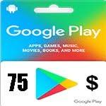 گيفت كارت 75 دلاری گوگل پلی
