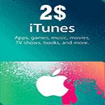 گیفت کارت 2 دلاری اپل آیتونز