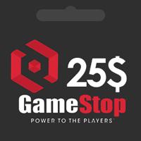 گیفت کارت 25 دلاری گیم استاپ gamestop