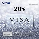ویزا کارت 20 دلاری آمریکا